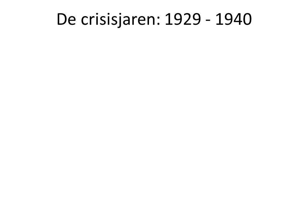 De crisisjaren: 1929 - 1940