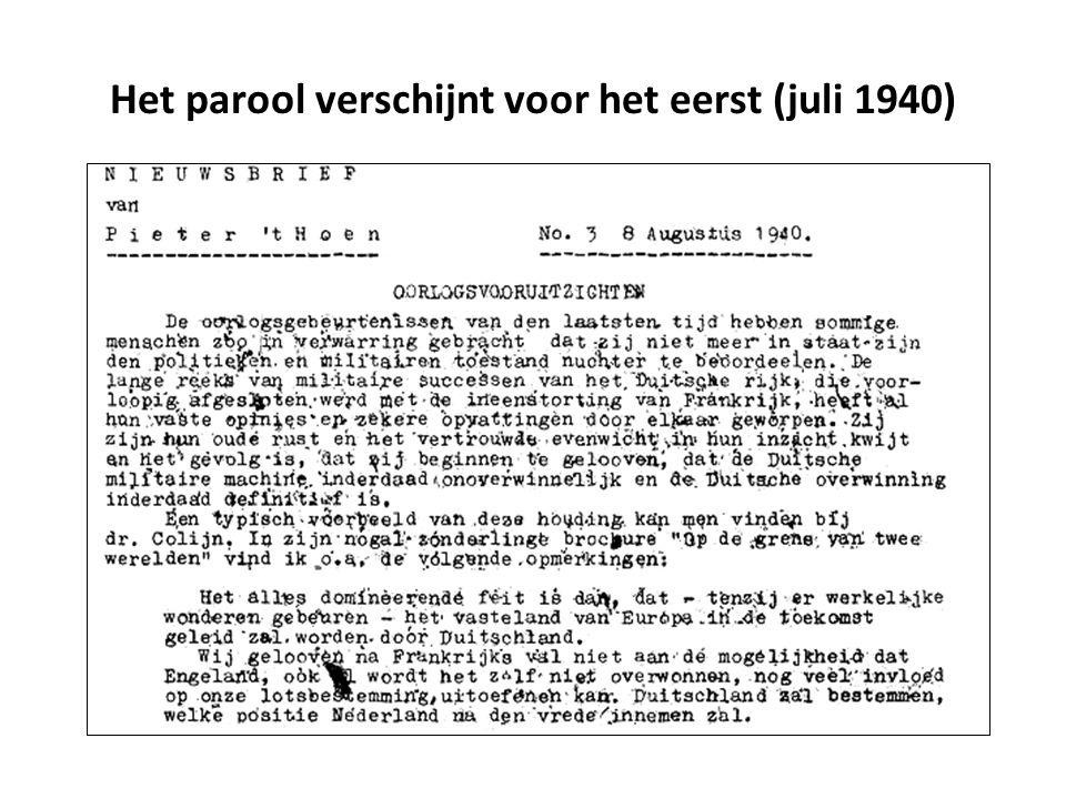 Het parool verschijnt voor het eerst (juli 1940)