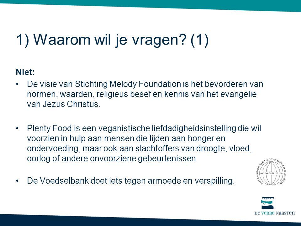 Niet: •De visie van Stichting Melody Foundation is het bevorderen van normen, waarden, religieus besef en kennis van het evangelie van Jezus Christus.
