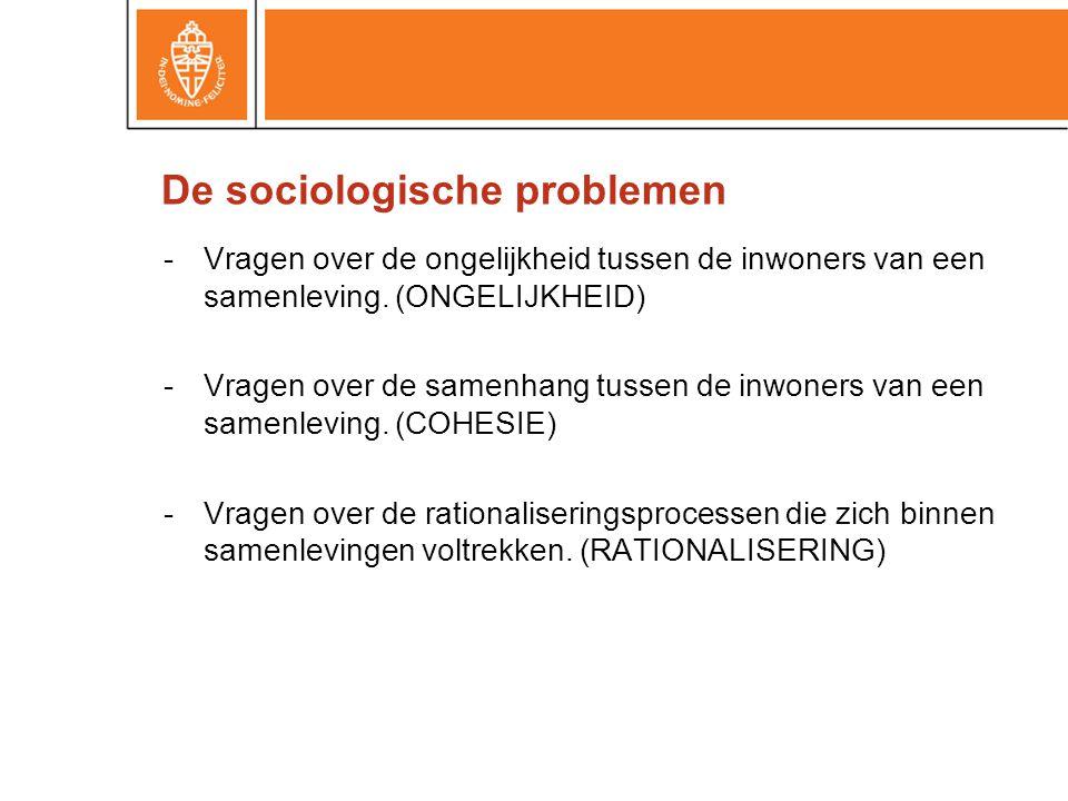 -Vragen over de ongelijkheid tussen de inwoners van een samenleving.
