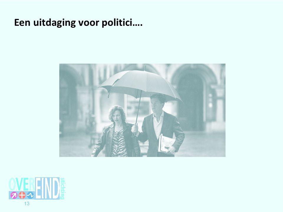 13 Een uitdaging voor politici….