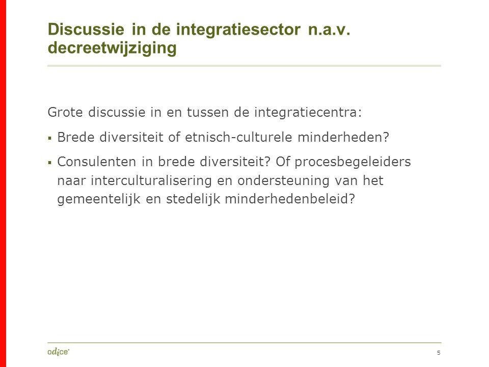 5 Discussie in de integratiesector n.a.v.