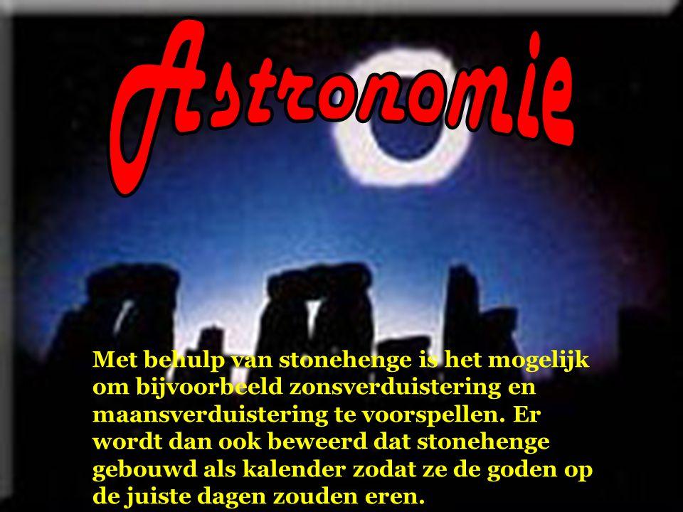 Met behulp van stonehenge is het mogelijk om bijvoorbeeld zonsverduistering en maansverduistering te voorspellen.