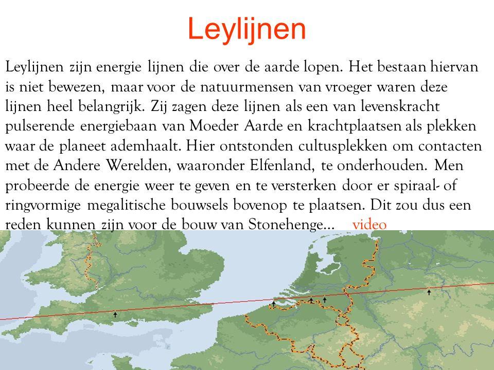 Leylijnen Leylijnen zijn energie lijnen die over de aarde lopen.