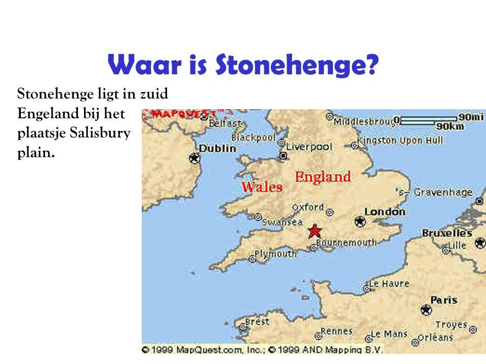 Waar is Stonehenge? Stonehenge ligt in zuid Engeland bij het plaatsje Salisbury plain.