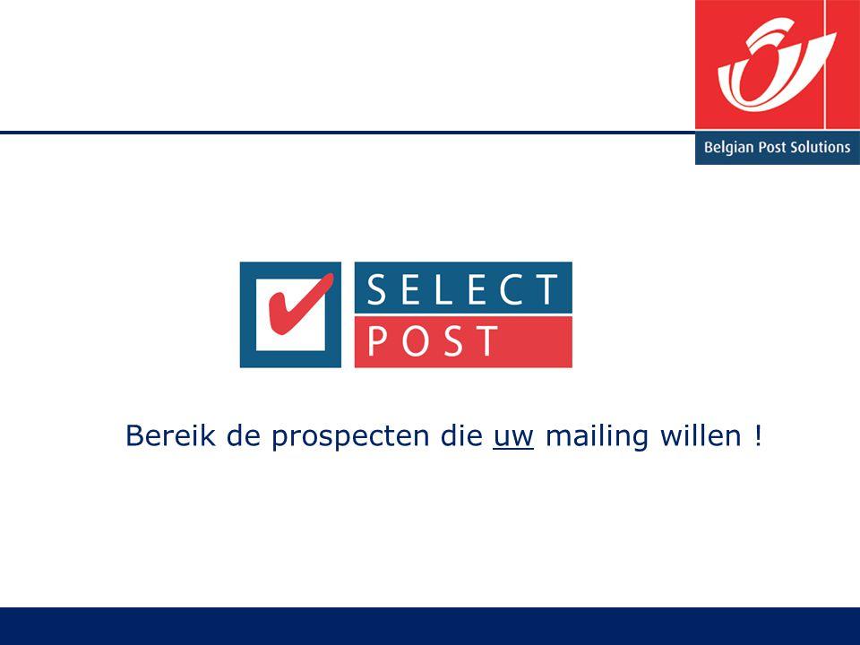 Bereik de prospecten die uw mailing willen !