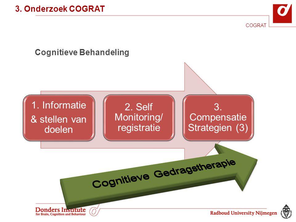 Cognitieve Behandeling 3.Onderzoek COGRAT COGRAT 3.