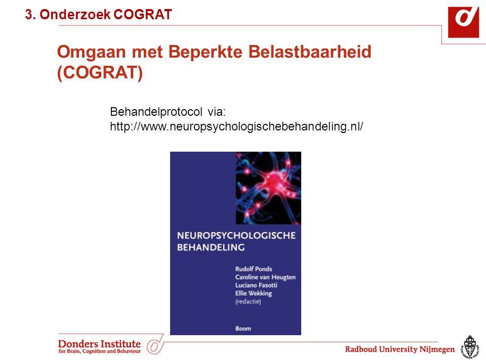 Omgaan met Beperkte Belastbaarheid (COGRAT) Behandelprotocol via: http://www.neuropsychologischebehandeling.nl/ 3.