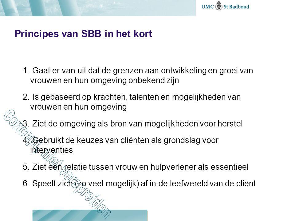 Principes van SBB in het kort 1.