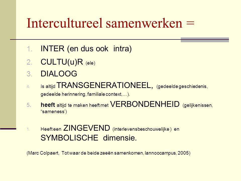Interculturele competentie (CIMIC)  Culturele zelfkennis: kennis over het eigen referentiekader en wereldbeeld.