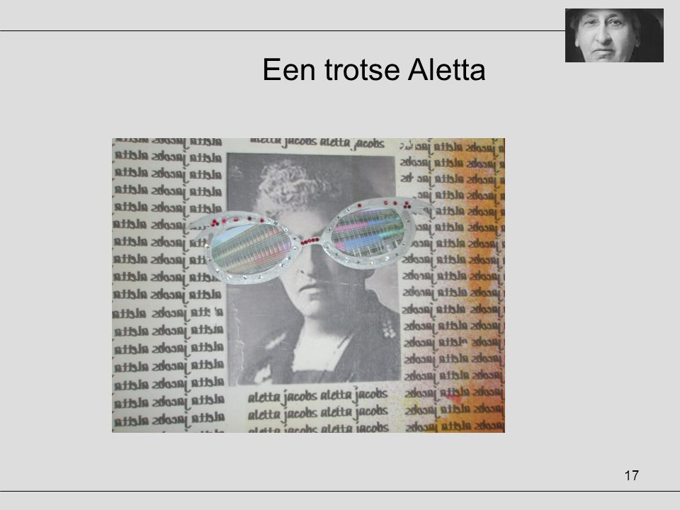 17 Een trotse Aletta