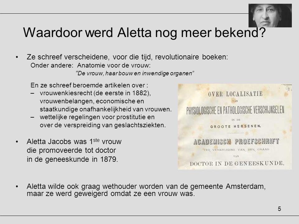 6 Waarom reisde Aletta over de gehele wereld.