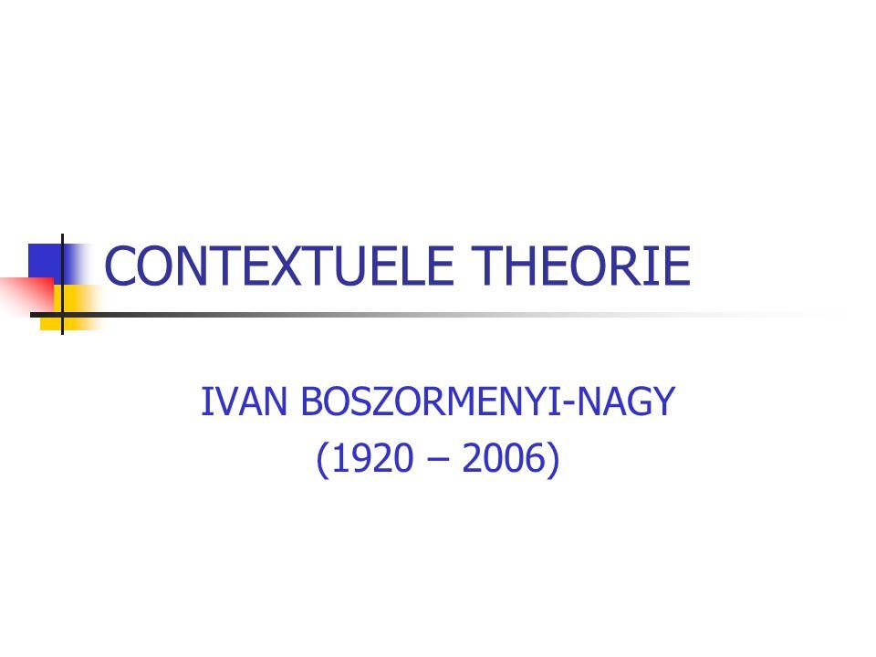 CONTEXTUELE THEORIE IVAN BOSZORMENYI-NAGY (1920 – 2006)