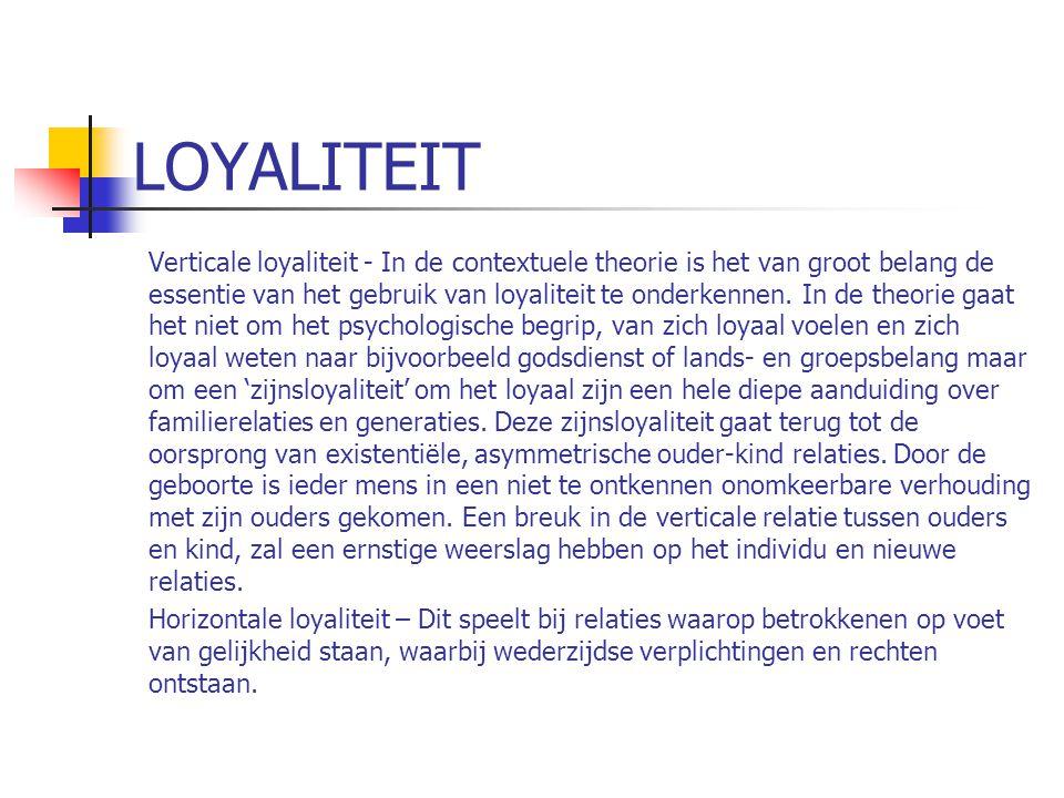 LOYALITEIT Verticale loyaliteit - In de contextuele theorie is het van groot belang de essentie van het gebruik van loyaliteit te onderkennen.