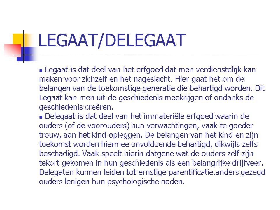 LEGAAT/DELEGAAT  Legaat is dat deel van het erfgoed dat men verdienstelijk kan maken voor zichzelf en het nageslacht.