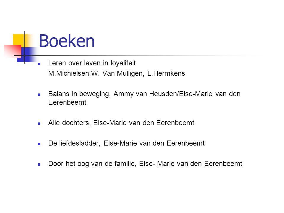 Boeken  Leren over leven in loyaliteit M.Michielsen,W.