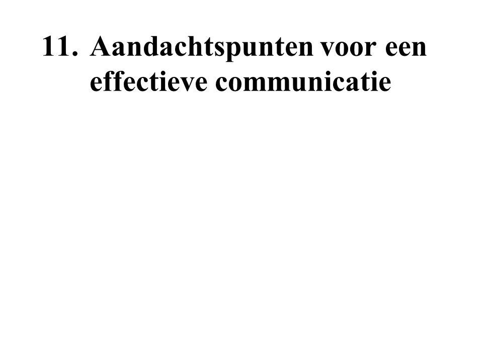11.Aandachtspunten voor een effectieve communicatie