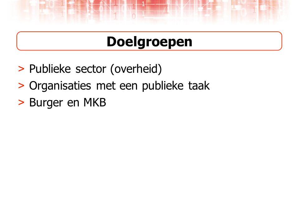 Doelgroepen > Publieke sector (overheid) > Organisaties met een publieke taak > Burger en MKB