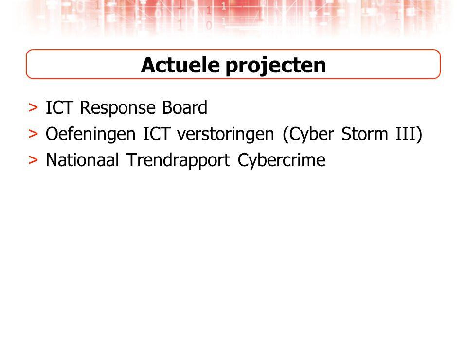 Actuele projecten > ICT Response Board > Oefeningen ICT verstoringen (Cyber Storm III) > Nationaal Trendrapport Cybercrime