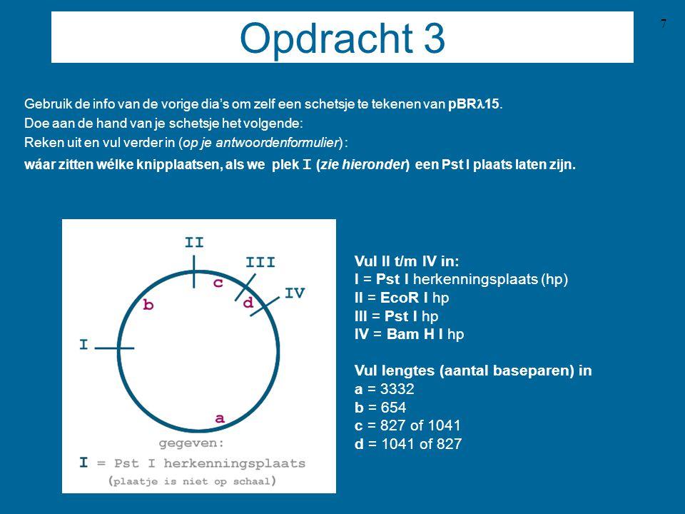 7 Opdracht 3 Gebruik de info van de vorige dia's om zelf een schetsje te tekenen van pBR  15.