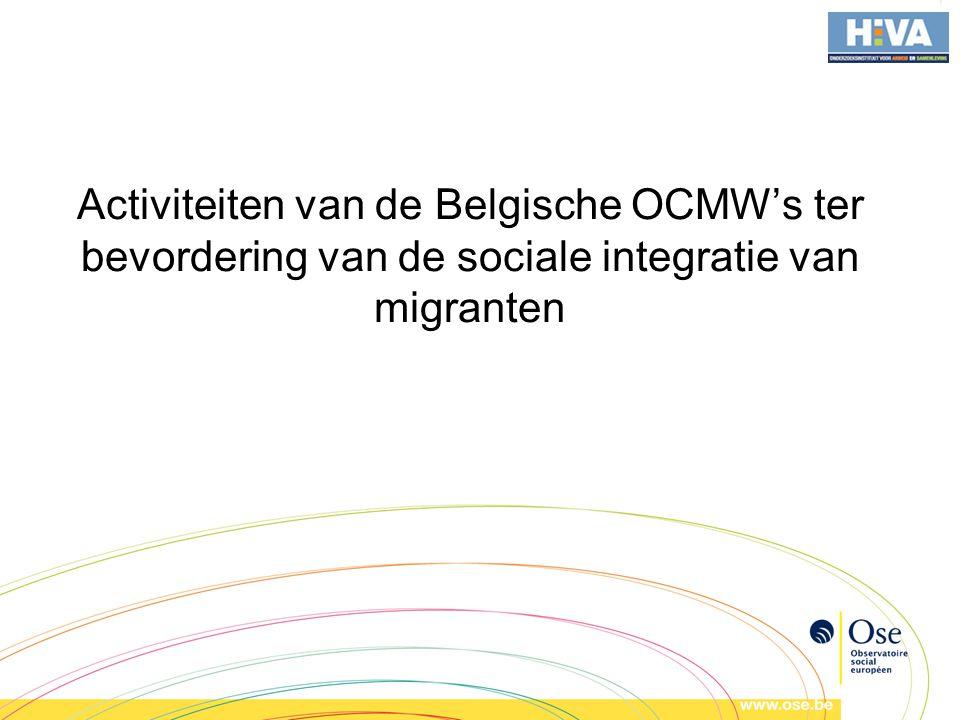 Activiteiten van de Belgische OCMW's ter bevordering van de sociale integratie van migranten