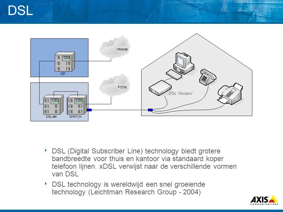 DSL  DSL (Digital Subscriber Line) technology biedt grotere bandbreedte voor thuis en kantoor via standaard koper telefoon lijnen. xDSL verwijst naar