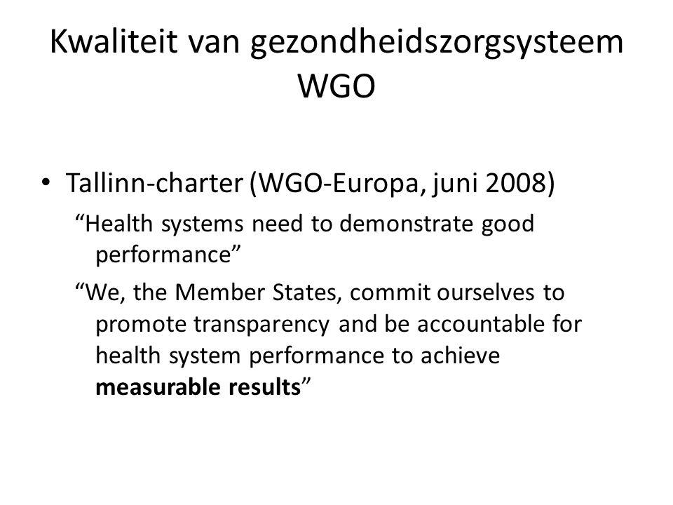 Kwaliteit van gezondheidszorgsysteem WGO • KCE Reports 196A (m.m.v.