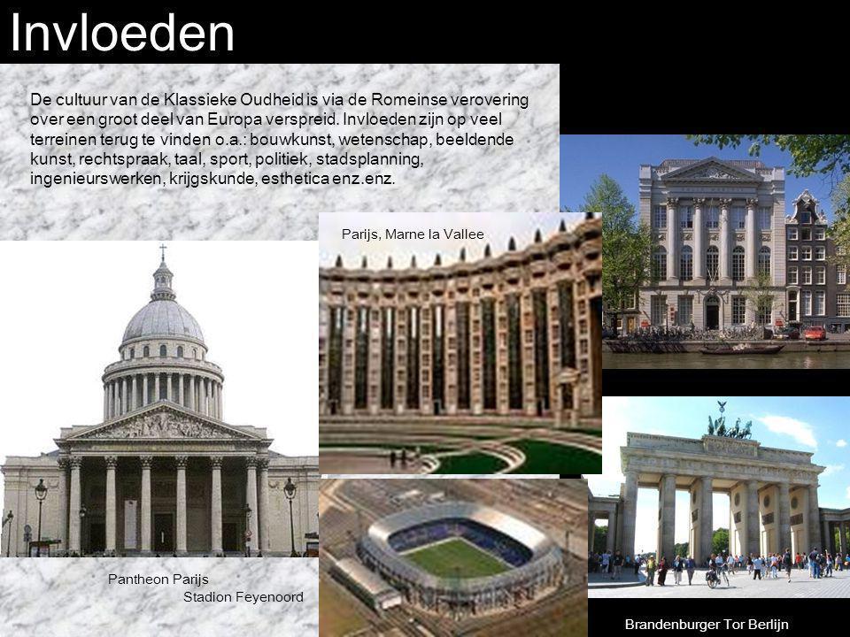 Invloeden De cultuur van de Klassieke Oudheid is via de Romeinse verovering over een groot deel van Europa verspreid. Invloeden zijn op veel terreinen