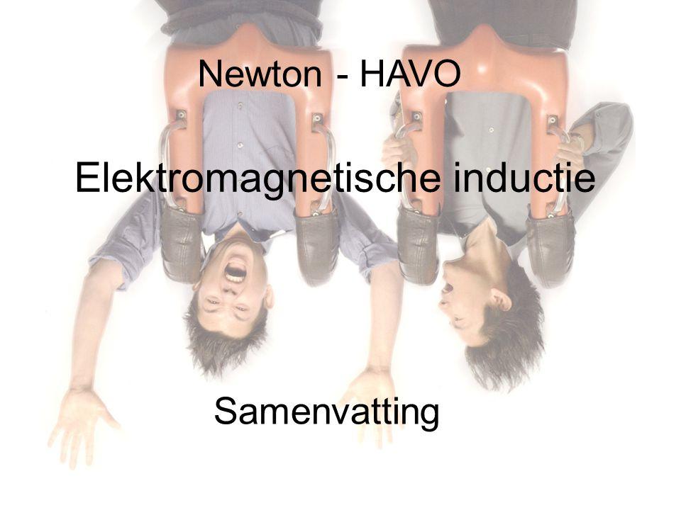 Newton - HAVO Samenvatting Elektromagnetische inductie