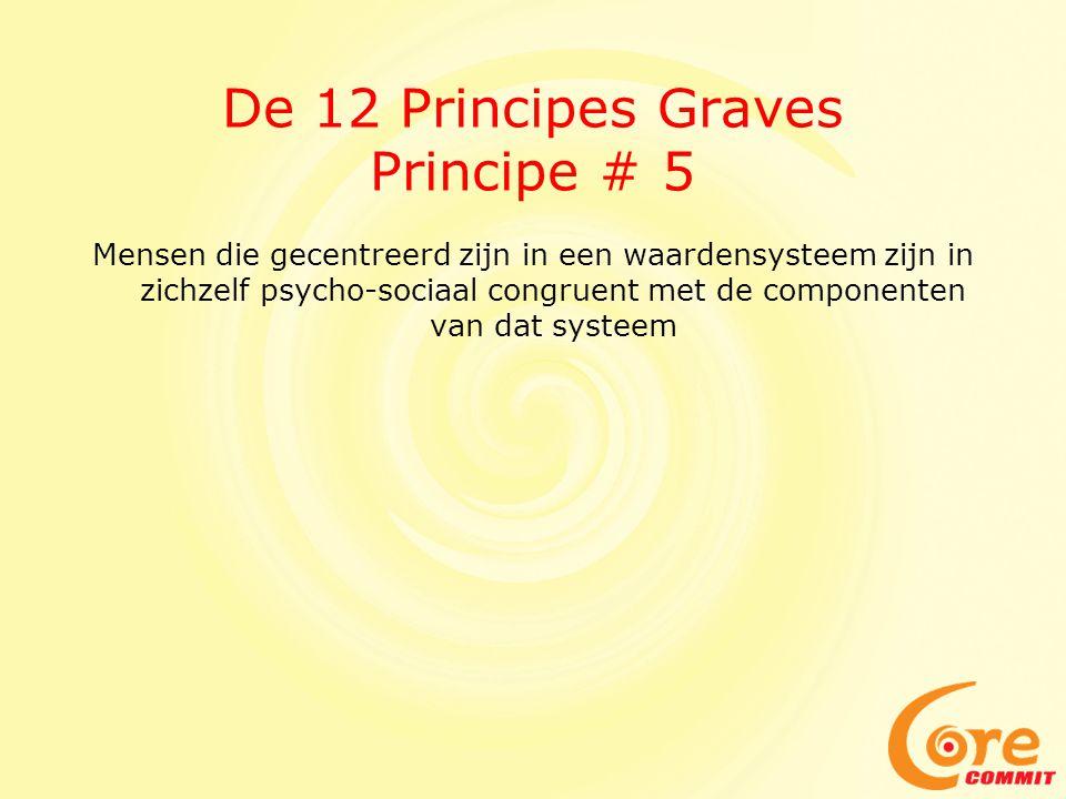 De 12 Principes Graves Principe # 5 Mensen die gecentreerd zijn in een waardensysteem zijn in zichzelf psycho-sociaal congruent met de componenten van