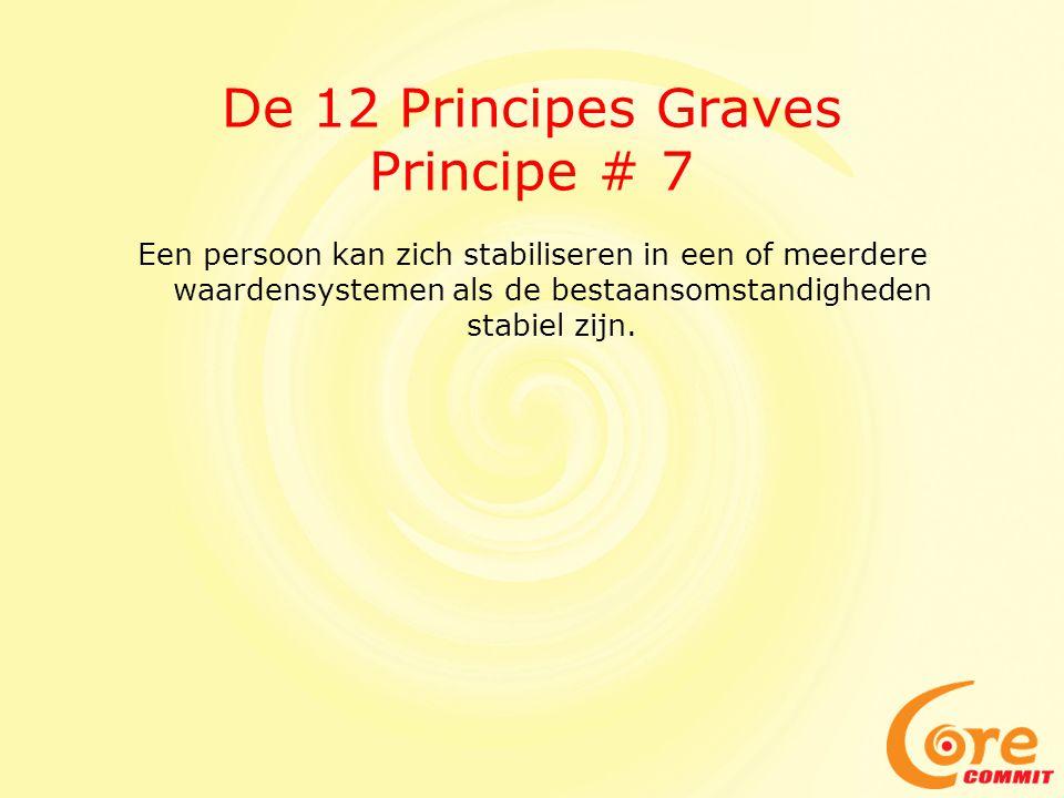 De 12 Principes Graves Principe # 7 Een persoon kan zich stabiliseren in een of meerdere waardensystemen als de bestaansomstandigheden stabiel zijn.