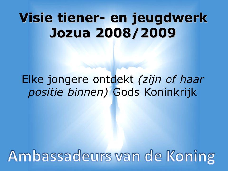 In drie delen • Elke jongere… (Rob Veenstra) • Jouw/uw positie (Niels Noordermeer) • Ambassadeur zijn (Jasper Rozendaal)