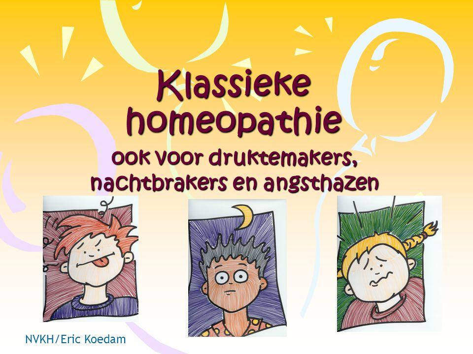 Klassieke homeopathie ook voor druktemakers, nachtbrakers en angsthazen NVKH/Eric Koedam