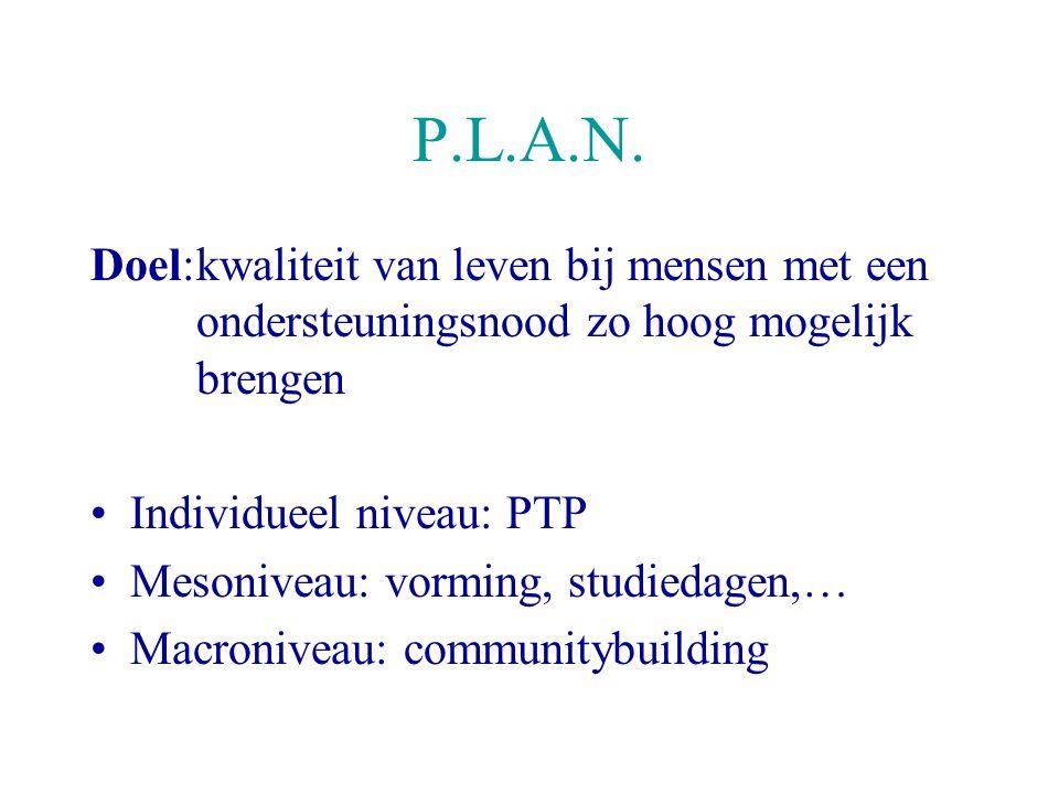 Persoonlijke Toekomstplanning Een project van P.L.A.N. vzw in opdracht van het Vlaams gebruikersoverleg voor Personen met een handicap en met de finan