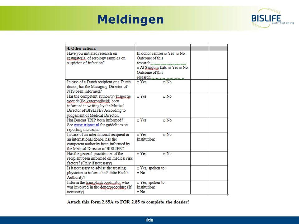 Title Meldingen