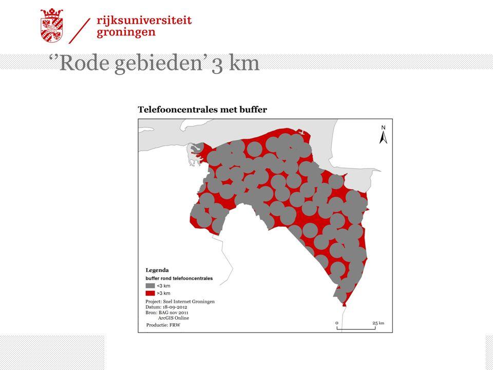 ''Rode gebieden' 3 km