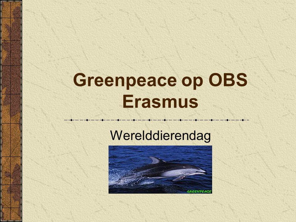 Greenpeace op OBS Erasmus Werelddierendag