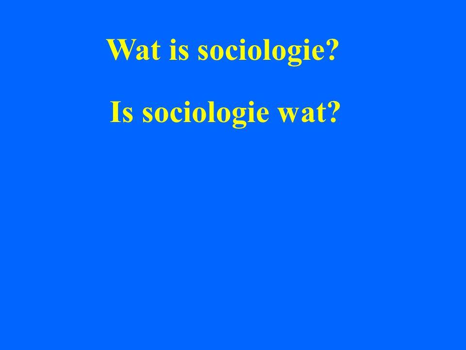 Wat is sociologie? Is sociologie wat? Stelt sociologie wat voor?