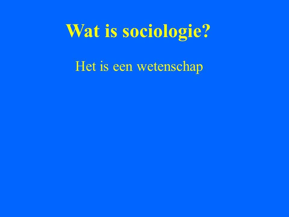 Wat is sociologie? Het is een wetenschap met Vragen, problemen