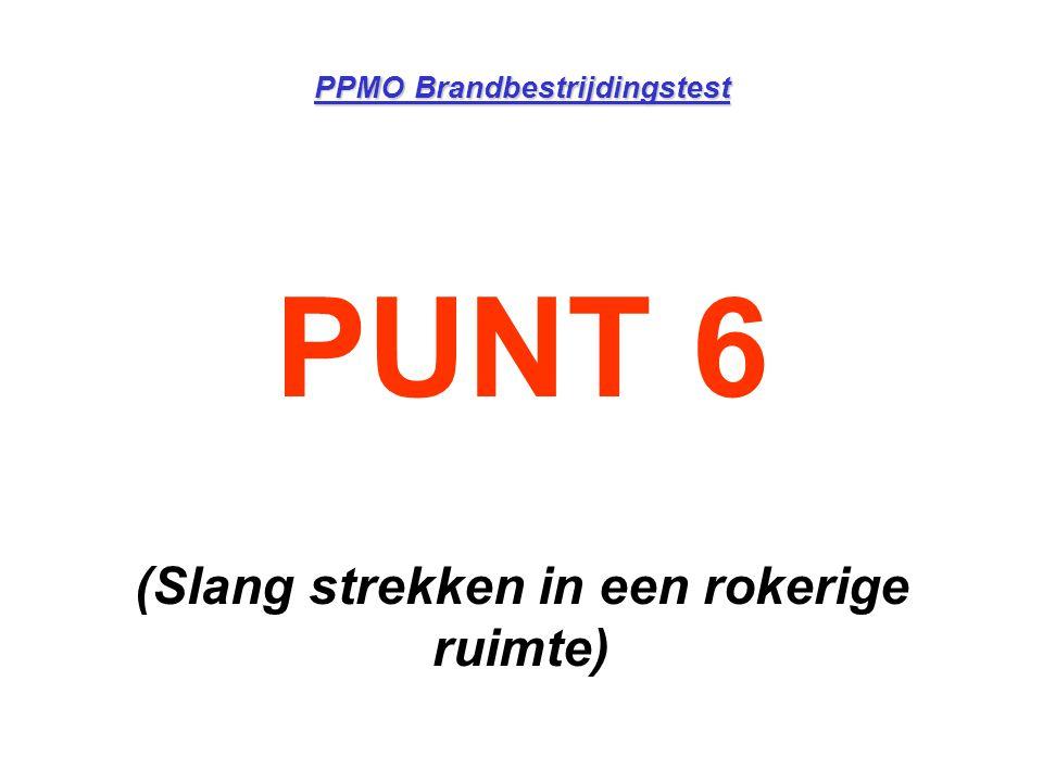 PPMO Brandbestrijdingstest PUNT 6 (Slang strekken in een rokerige ruimte)