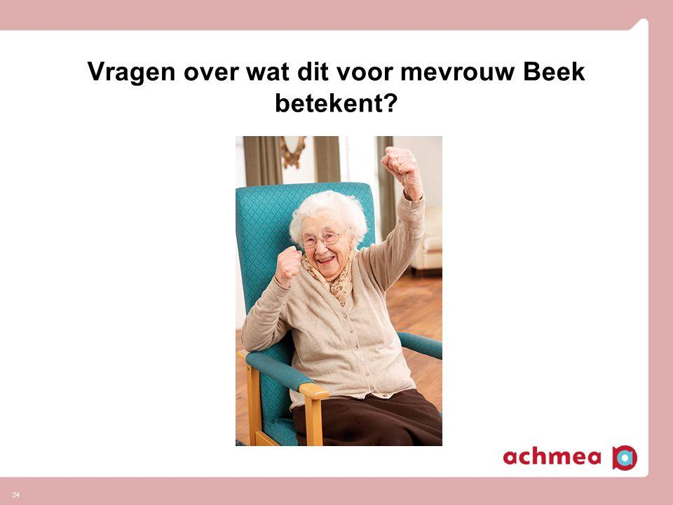 24 Vragen over wat dit voor mevrouw Beek betekent?