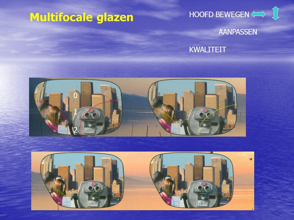 Multifocale glazen HOOFD BEWEGEN AANPASSEN KWALITEIT 1 2 0