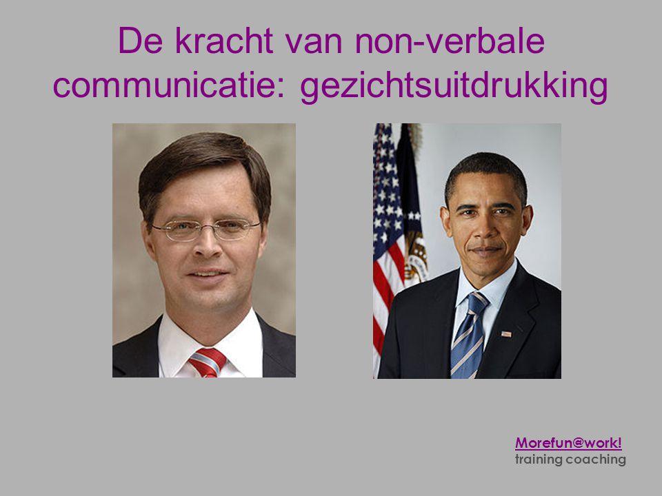 De kracht van non-verbale communicatie: gezichtsuitdrukking Morefun@work! training coaching