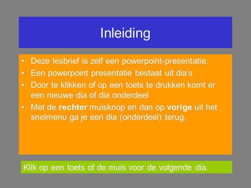 PowerPoint Het maken van presentaties voor op de computer.