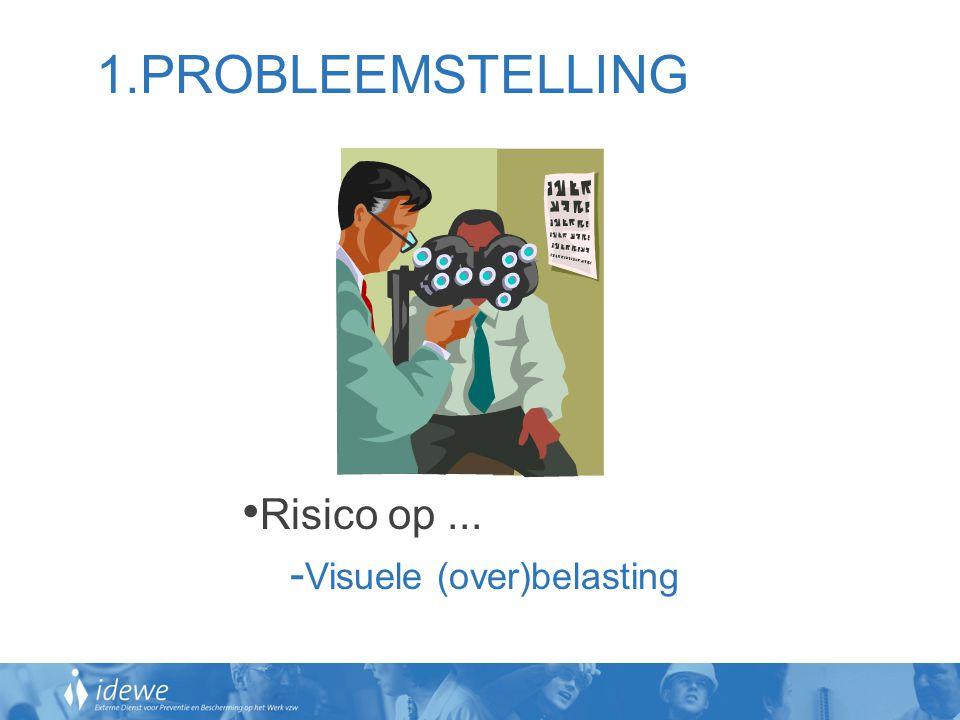 1.PROBLEEMSTELLING • Risico op... - Visuele (over)belasting