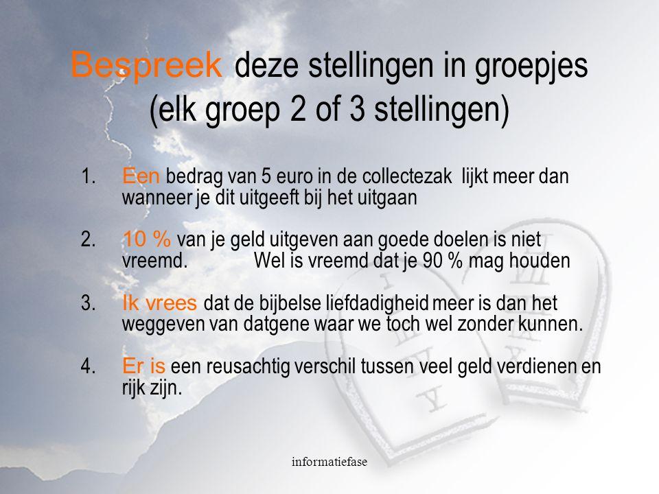 informatiefase Stellingen 5.