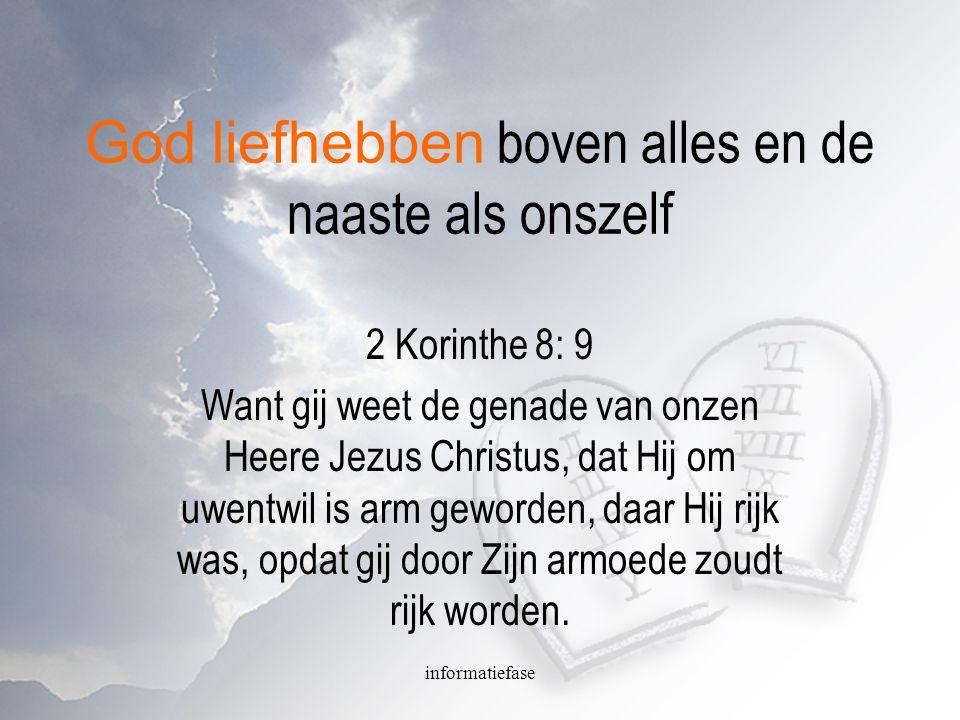 informatiefase Lukas 12 13 En een uit de schare zeide tot Hem: Meester, zeg mijn broeder, dat hij met mij de erfenis dele.
