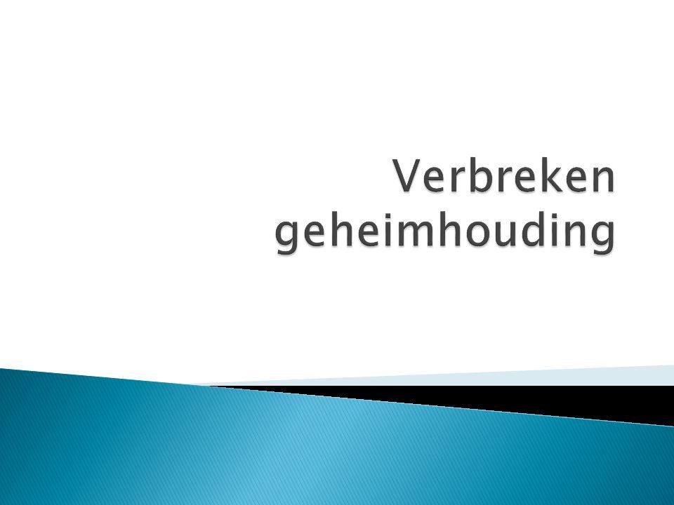  Conflict van plichten;  Meldrecht AMK (meldcode)  Meldrecht Verwijsindex risicojongeren