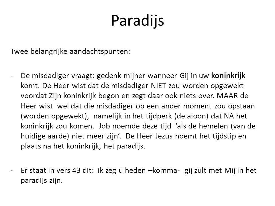 Paradijs Wat is een paradijs.