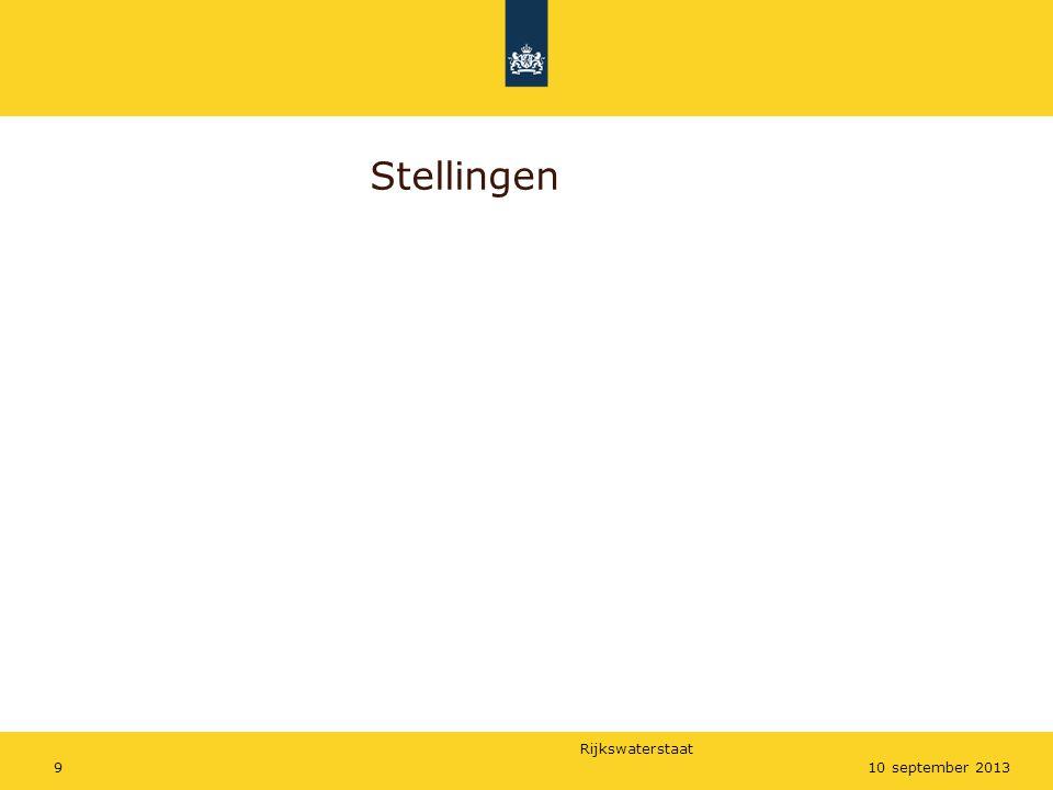 Rijkswaterstaat 1010 september 2013 Je kunt niet vroeg genoeg starten met grondverwerving